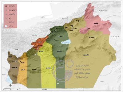 ۴۵ نقشه زمین شناسی یکصدهزارم استان سمنان تهیه شد