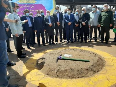 کلنگ زنی سه طرح عظیم توسعه ای در فولاد خوزستان